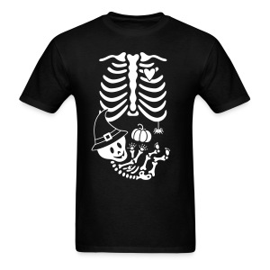Skelly Baby with Witch Hat - Men's T-Shirt
