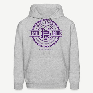 HBCU Strong - Men's Purple and Grey Hoodie - Men's Hoodie