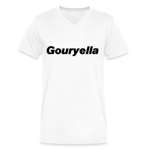 Gouryella V-Neck White - Men's V-Neck T-Shirt by Canvas