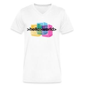 Ferry Corsten 'Hello World' V-neck Men - Men's V-Neck T-Shirt by Canvas
