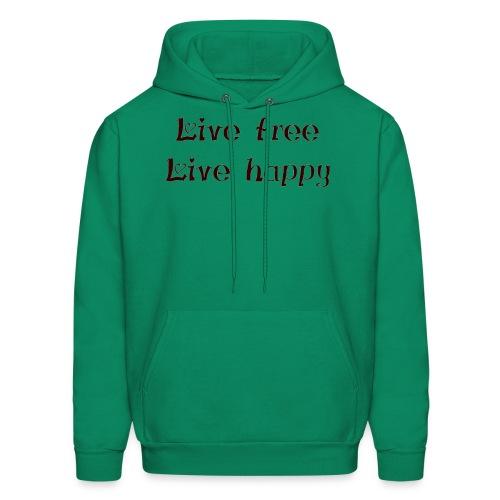 live free live happy - Men's Hoodie