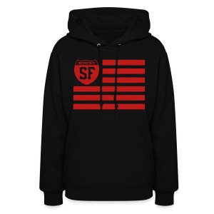 SF red glitter ink - Women's Hoodie