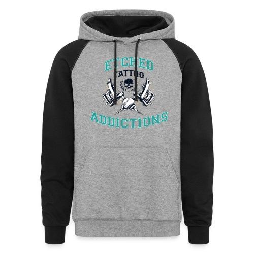 Etched Addictions Hoodie - Colorblock Hoodie