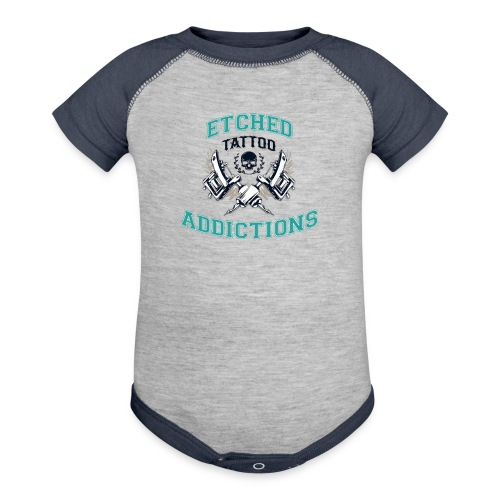 Etched Addictions Onsie - Contrast Baby Bodysuit