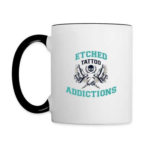 Etched Addictions Mug - Contrast Coffee Mug