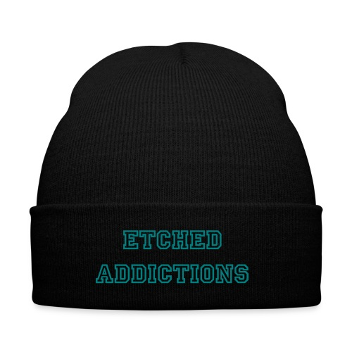 Etched Addictions Toque - Knit Cap with Cuff Print