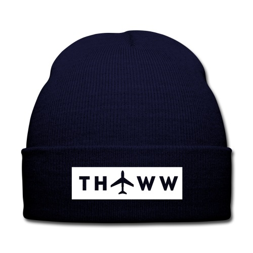 THT WorldWide Female Original V-neck - Knit Cap with Cuff Print
