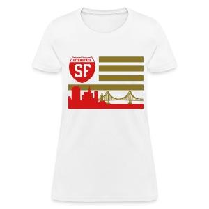 SF flag - Women's T-Shirt