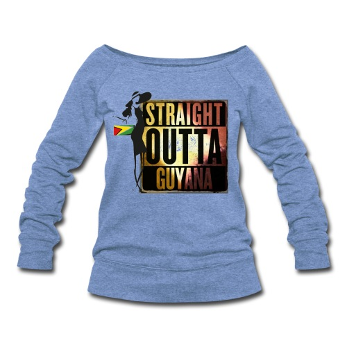 Straight Outta Guyana Sweater - Women's Wideneck Sweatshirt