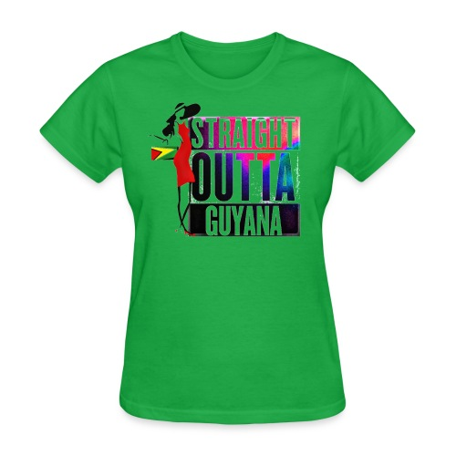 Straight Outta Guyana T-Shirt - Women's T-Shirt