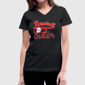 Baseball Sister - Women's V-Neck T-Shirt