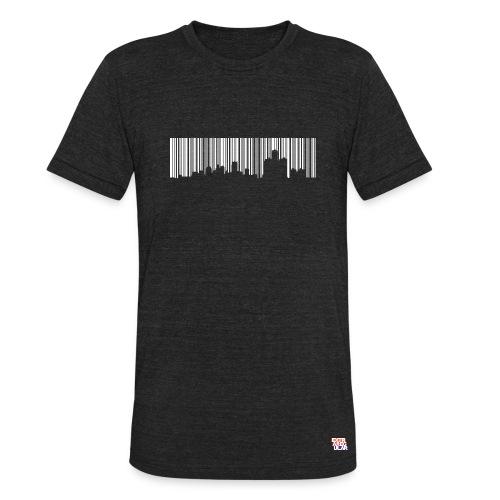 Detroit Skyline Barcode - Unisex Tri-Blend T-Shirt