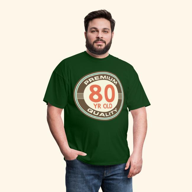 80th Birthday T Shirt Vintage 80 Year Old
