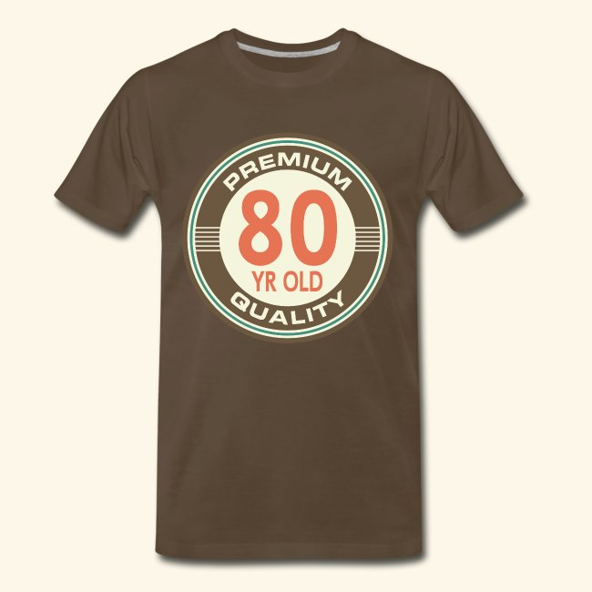 80th Birthday T Shirt Vintage 80 Year Old