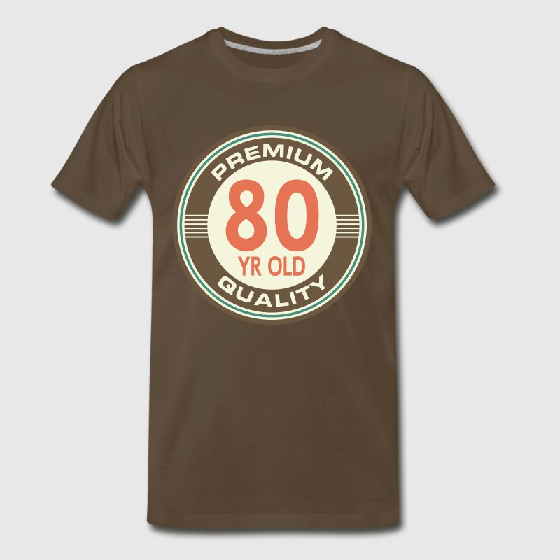 80th birthday vintage 80 year old t shirt spreadshirt What do you buy an 80 year old man