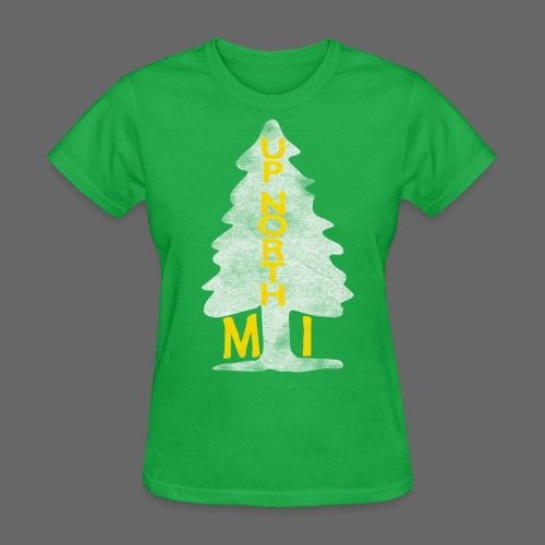 Up North Mi Tree - Women's T-Shirt