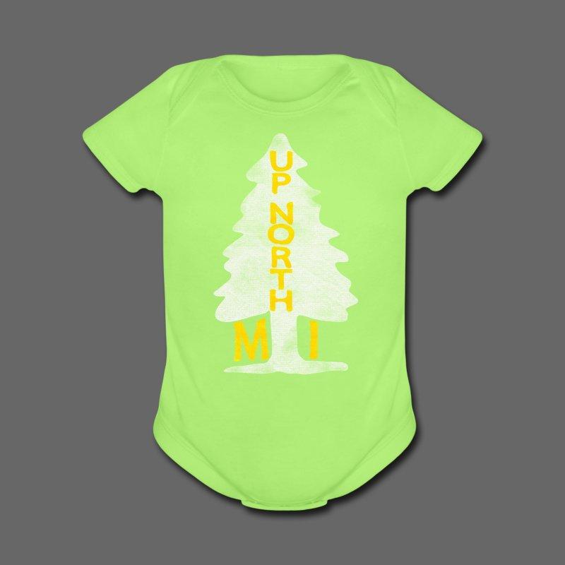 Up North Mi Tree - Short Sleeve Baby Bodysuit