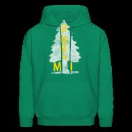 Hoodies ~ Men's Hoodie ~ Up North Mi Tree