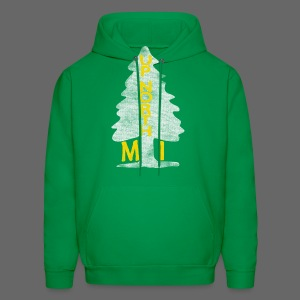 Up North Mi Tree - Men's Hoodie