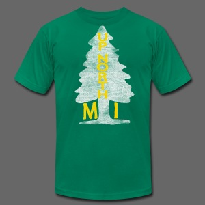 Up North Mi Tree - Men's T-Shirt by American Apparel