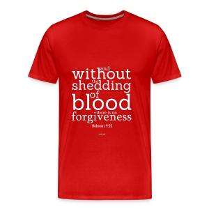 men's premium t-shirt hebrews 9:22 - Men's Premium T-Shirt