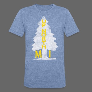 Up North Mi Tree - Unisex Tri-Blend T-Shirt by American Apparel