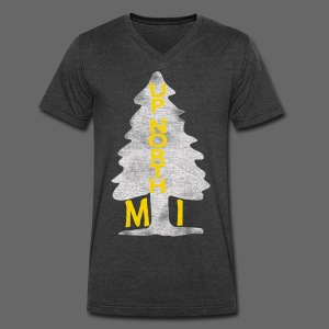 Up North Mi Tree - Men's V-Neck T-Shirt by Canvas