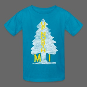 Up North Mi Tree - Kids' T-Shirt