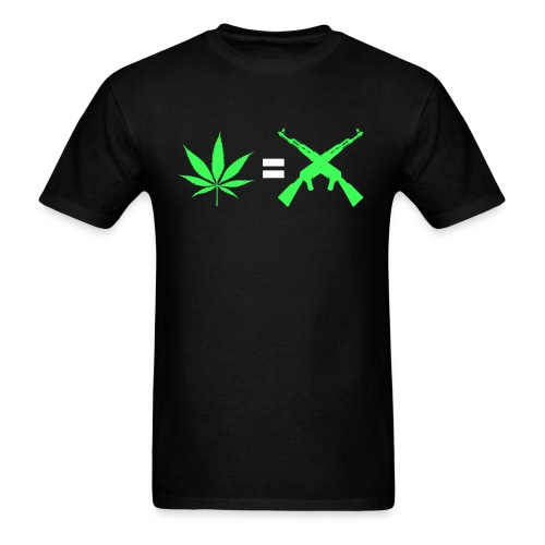 Men's Weed = Violence - Men's T-Shirt