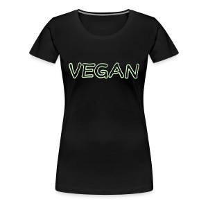 vegan (print glows in the dark) - Women's Premium T-Shirt