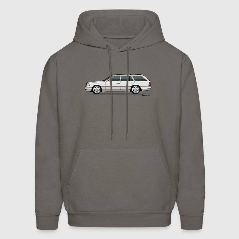 Mercedes W124 300TE Wagon (White) Hoodies - Men's Hoodie