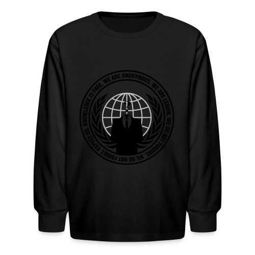 Anonymous Logo - Long Sleeve  - Kids' Long Sleeve T-Shirt