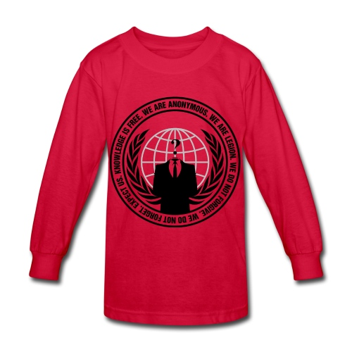 Anonymous Logo - Long Sleeve  - Kids' Long Sleeve T-Shirt