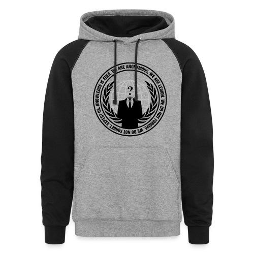 Anonymous Logo - Hoodie - Colorblock Hoodie