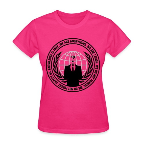 Pink Anonymous Womens Shirt - Women's T-Shirt
