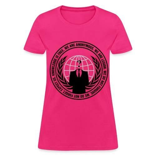 Pink Anonymous Womens Shirt - Women's T-Shirt