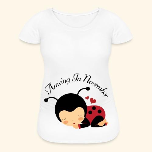 November Due Date Maternity T-shirt (ladybug) - Women's Maternity T-Shirt