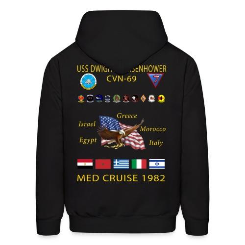 USS DWIGHT D EISENHOWER CVN-69 MED CRUISE 1982 HOODIE - Men's Hoodie