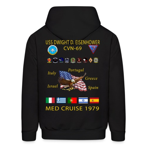 USS DWIGHT D EISENHOWER CVN-69 MED CRUISE 1979 HOODIE - Men's Hoodie