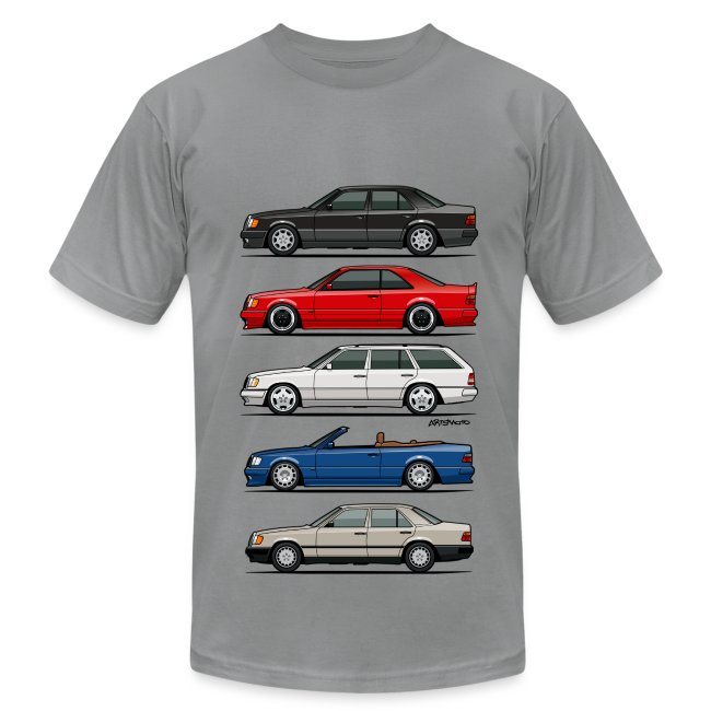 Stack of Mercedes Benz W124 E-Class | Men's Jersey T-Shirt