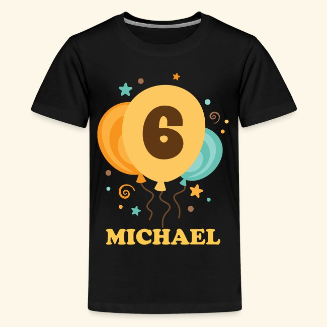6th Birthday Party Personalized T Shirt