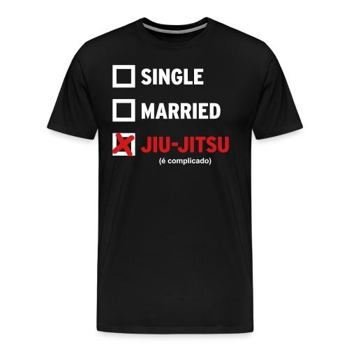 Single, Married, Jiu Jitsu Shirt (Mens) - Men's Premium T-Shirt