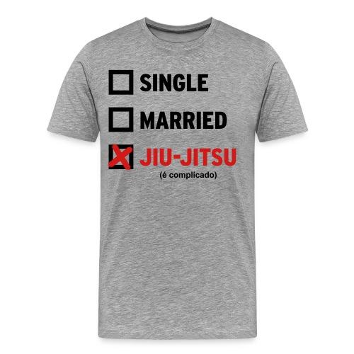 Single, Married, Jiu Jitsu (Mens) - Men's Premium T-Shirt