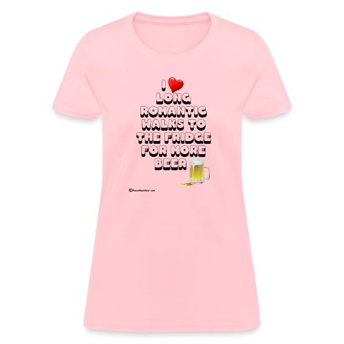 I Love Romantic Walks To The Fridge Women's T-Shirt - Women's T-Shirt