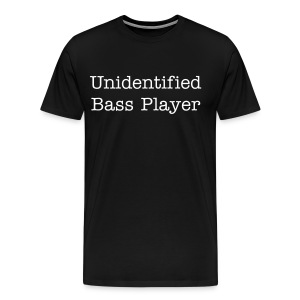 Men's Unidentified Bass Player TEE BLACK 3X - Men's Premium T-Shirt