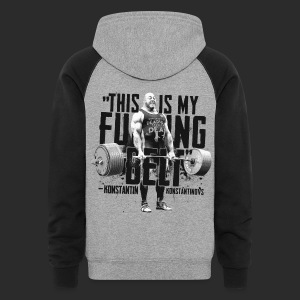 IRON&EMOTION's - THIS IS MY F#CKING BELT - Colorblock Hoodie