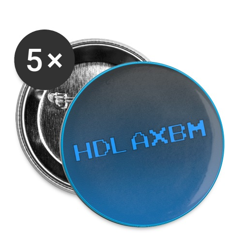 HDlaxbm Official Logo Buttons - Buttons small 1'' (5-pack)