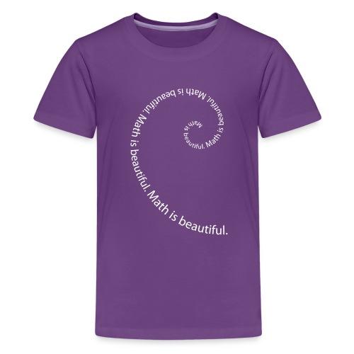 Fibonacci Spiral Kids' Tee - Kids' Premium T-Shirt