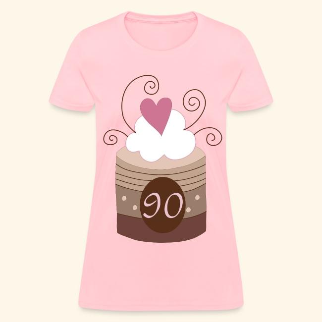 90th Birthday Cake Womens T Shirt