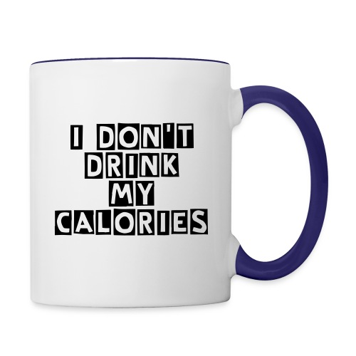 Left Handed Drink Calories Mug - Contrast Coffee Mug